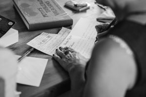 hands writting, invitation, typography